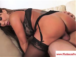 Ava Devine does dp during a 3 way