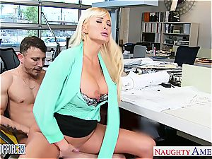 excellent office stunner Summer Brielle gets drilled