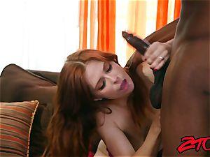 Redheaded Penny Pax Vs dark-hued boner