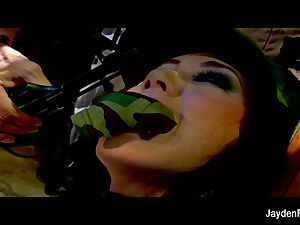 Army poking with huge-titted dark-haired Jayden Jaymes