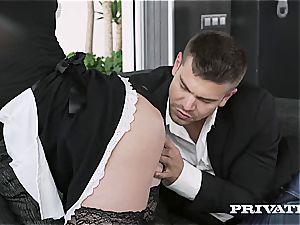 humping a super-steamy redhead maid