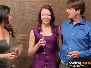 fresh swinging duo try a sensitive orgy swap