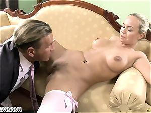 naughty college girl takes two boner in her virgin fuck-holes
