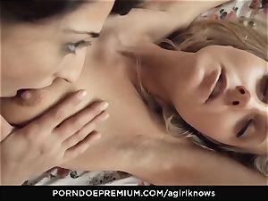 A dame KNOWS Jimena Lago voluptuous lesbian romp