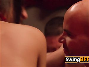 calm duo shares personal moments with other nasty swingers