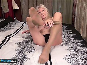 EuropeMature elderly granny Cindy gone too insatiable