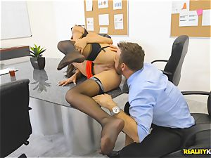 Office pulverize with the secretary Aubrey Rose who happens to be the bosses daughter
