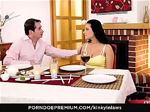 naughty INLAWS Taboo fuck-fest and creampie for Lucia Denvile