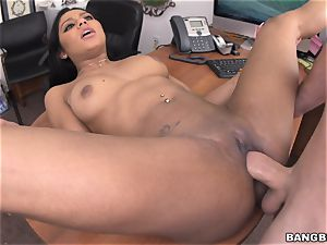 Aaliyah Grey in the audition apartment