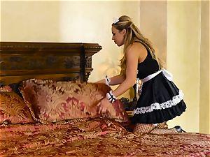 Sara Luvv loves fuckfest with her super-fucking-hot maid Olivia Austin