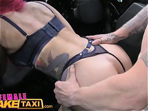 gal faux taxi chesty squirting honey plowed and facial