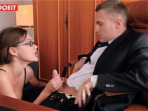 LETSDOEIT - super-naughty tutor Gets dped By student and chief