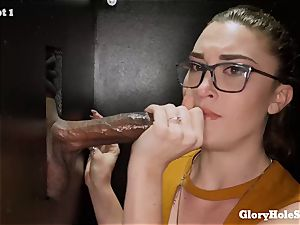 Kat Monroe blows stiffys at gloryhole