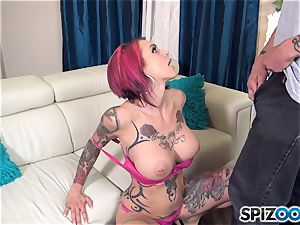 Anna Bell Peaks super hot jism drinking three