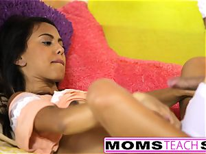 MomsTeachSex - mom And daughter have fun With dad Gone