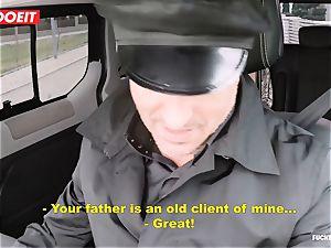 LETSDOEIT - mischievous Czech tempts and smashes Uber Driver
