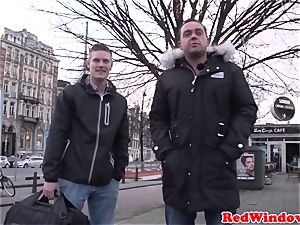 immense Amsterdam hooker cockriding tourist