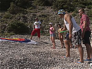 super-naughty group hump tournament on the beach part 1