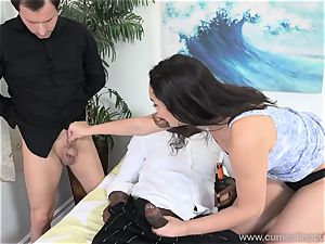 Paisley Parker Gets black hard-on and husband munches Up jizm