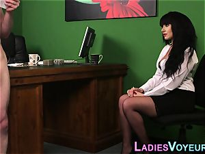 buxomy office cfnm mistress