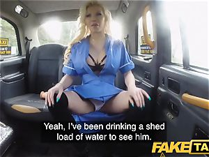 fake cab big-titted naughty nurse pisses and harsh nailing