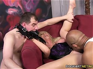 hotwife mega-bitch Leya Falcon takes ass-fuck ravaging