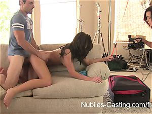 Nubiles audition - pornography tryouts for buxomy honey