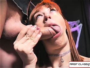 very first Class point of view - Alexa Nova blowing a humungous man sausage in point of view
