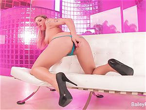 scorching inked platinum-blonde Dahlia Sky plays with a fuck-a-thon plaything