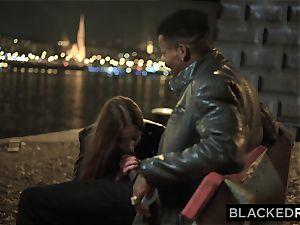 BLACKEDRAW insatiable Model Meets big black cock and Gets predominated