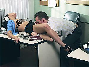 Vicki pursue gets her much needed beef whistle