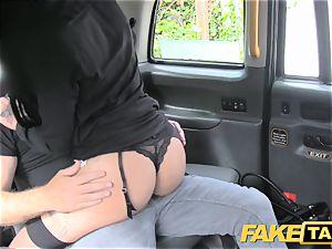 fake cab brunette club dancer works her magic for ride