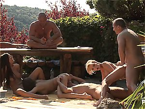 Outdoor hump fun and porn games sequence four