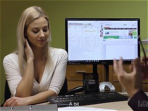 LOAN4K. hotty has to open up legs in office for solving her problems