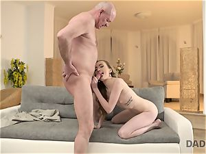 DADDY4K. lovemaking of daddy and youthful female finishes with sudden internal cumshot