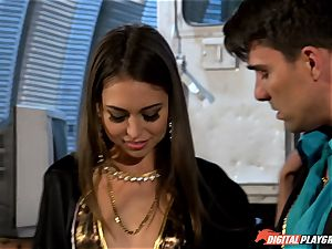 Smoking steamy Riley Reid filled up with Toni Ribas