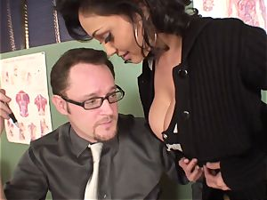 wailing and squealing Priya Rai popped in the beaver by headteacher