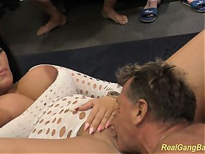 huge-titted ashley jizz in real gangbang