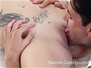 Nubiles audition - internal cumshot hotty wants to be a pornographic star