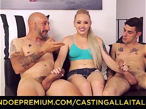 CASTNG ALLA ITALIANA - platinum-blonde vixen harsh double penetration lovemaking
