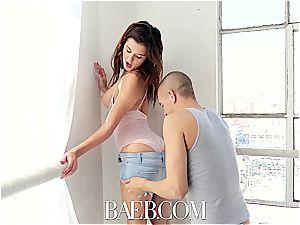 BAEB honey Leah Gotti seduces and penetrates camera operator