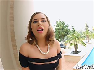bum Traffic Diana Dali gets a meaty beef whistle in her ass