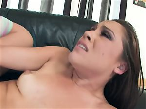 messy Kristina Rose loves to open up her cheecks broad for a ginormous penis penetrating