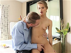 fabulous stunner Jillian Janson penetrated in her sumptuous cooch and her caboose pie