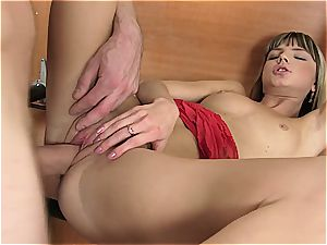 young Gina gets her cunt torn open